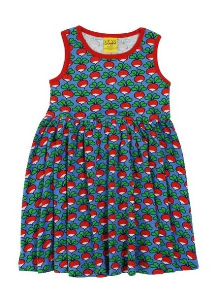Duns Sleeveless Gathered Dress Cornflower Radish